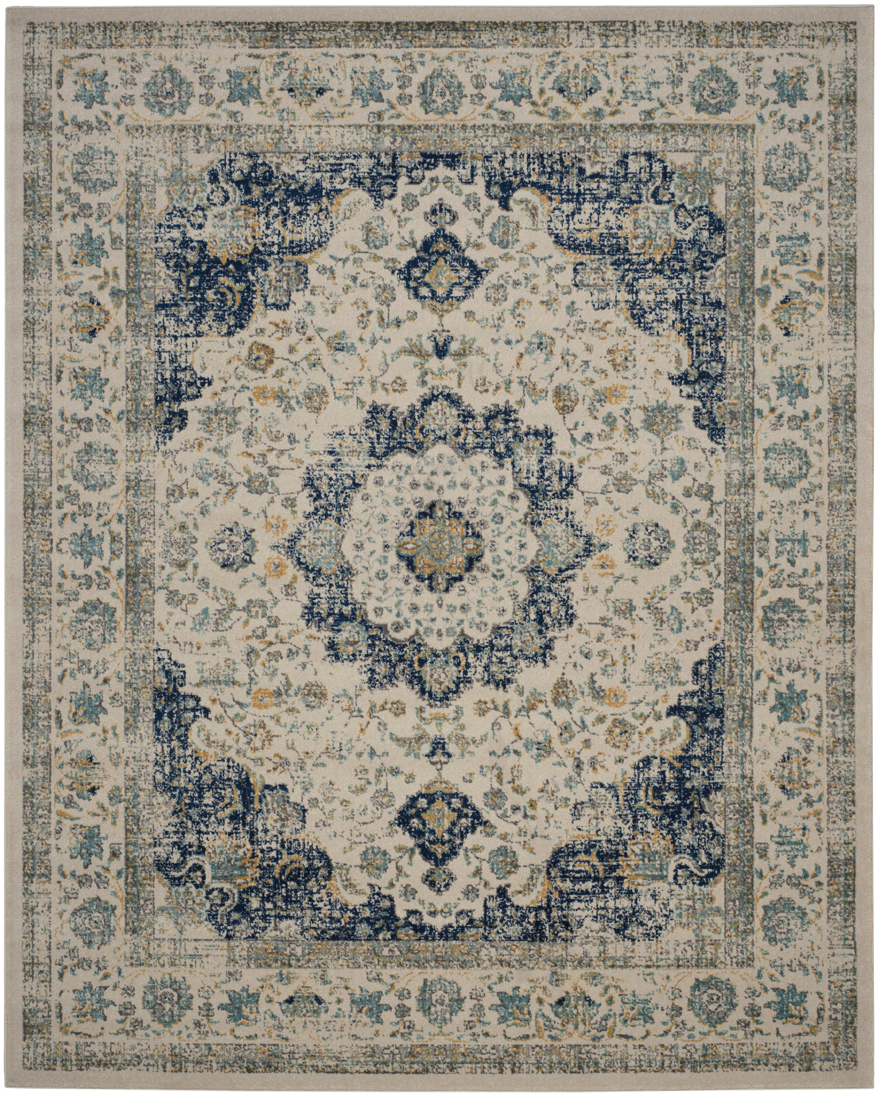 Elson Ivory Blue Area Rug