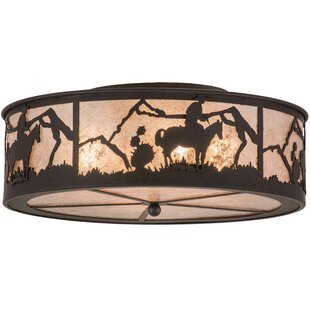 Meyda Tiffany Cowboy 4-Light Flush Mount