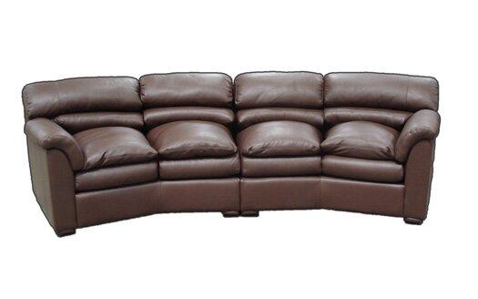 Canyon Leather Conversation Sofa