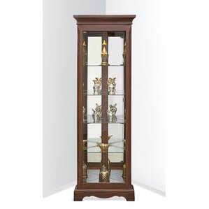 Hawthorne Lighted Corner Curio Cabinet by Philip Reinisch Co.