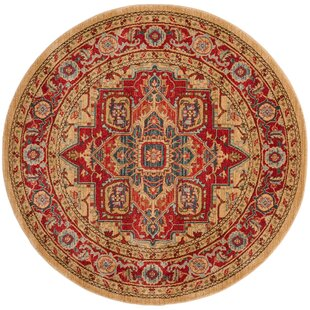 Clarion Power Loomed Red/Natural Area Rug by Astoria Grand
