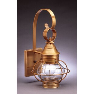 Comparison Onion 1-Light Outdoor Wall Lantern By Northeast Lantern