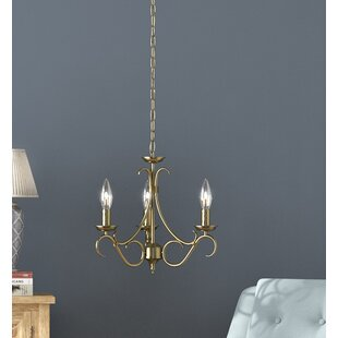 Bernice 3-Light Candle Style Chandelier by Endon Lighting