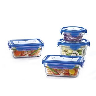 Glasslock 4 Container Food Storage Set
