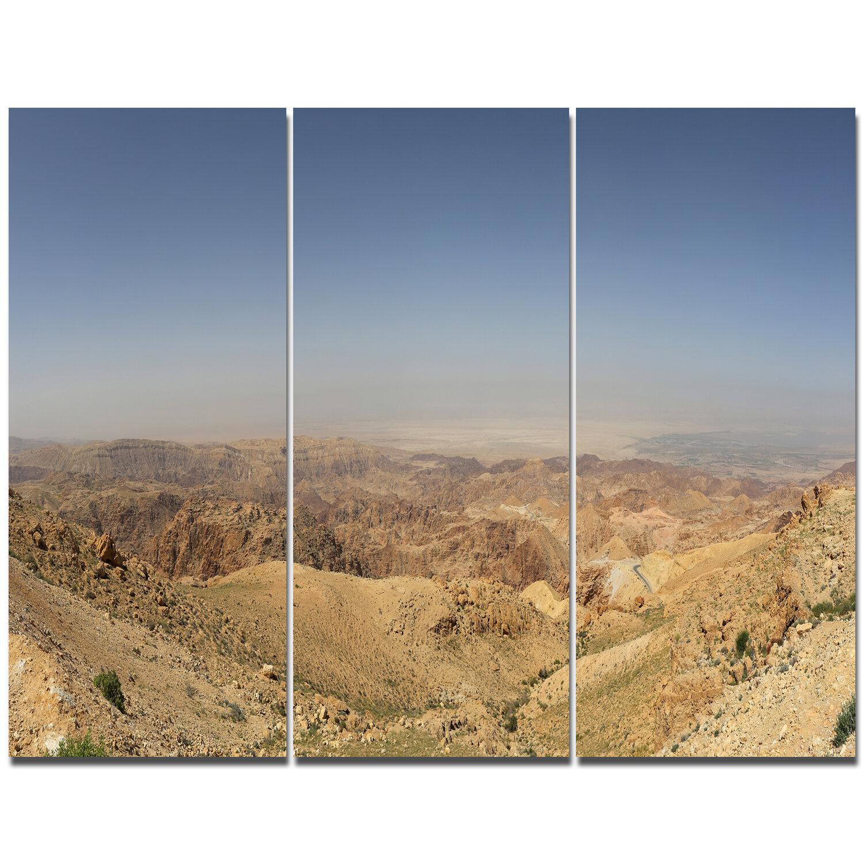 Designart Panorama Desert Hills Jordan Photographic Print Multi Piece Image On Canvas Wayfair Ca