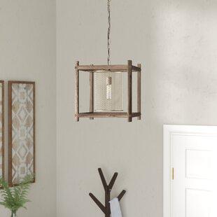 Mcgee Brass 1-Light Square/Rectangle Pendant