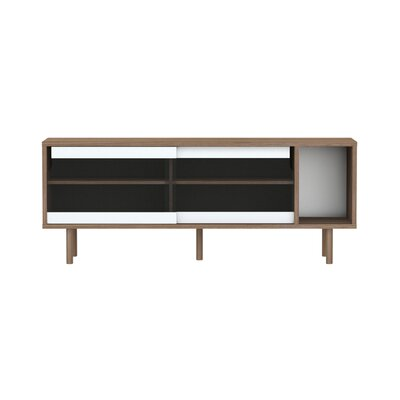 Cool Corrigan Studio Garry Tv Stand For Tvs Up To 65 Color Walnut Inzonedesignstudio Interior Chair Design Inzonedesignstudiocom