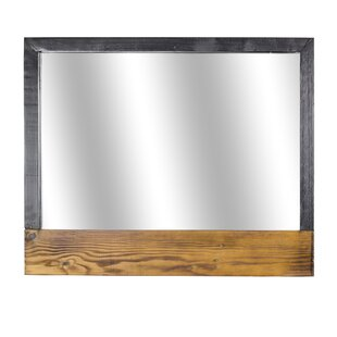 Comparison Delicia Decor Rustic Wood Hanging Wall Mirror By Gracie Oaks