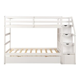 Abron Twin over Twin TripleQuad Bed with 4 Drawers by Harriet Bee
