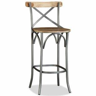 Williston Forge Wooden Seat Bar Stools