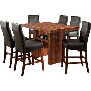 Carroll 7 Piece Counter Height Pub Table Set Hokku Designs