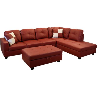 Groovy Andover Mills Russ Sectional With Ottoman Alphanode Cool Chair Designs And Ideas Alphanodeonline