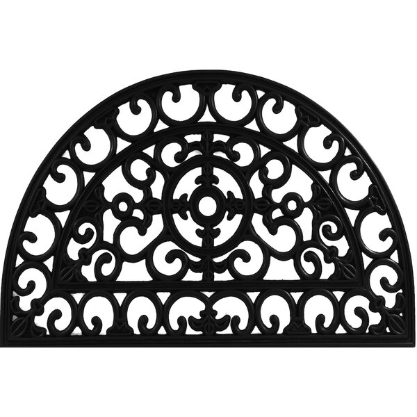 Envelor Home Half Round Fleur De Lis Filigree Wrought Iron Rubber Doormat |  Wayfair