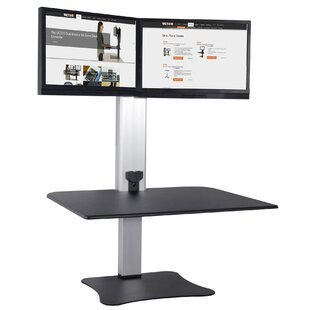 Octavius Electric Dual Monitor Standing Desk by Symple Stuff Coupon