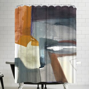 Olimpia Piccoli Traces Shower Curtain ByEast Urban Home