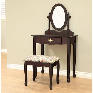 Ogden Vanity Set with Mirror by Charlton Home
