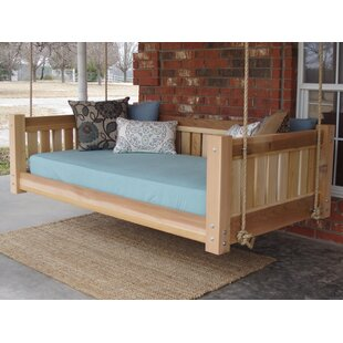 Lomba Hanging Daybed Rope Porch Swing by Millwood Pines