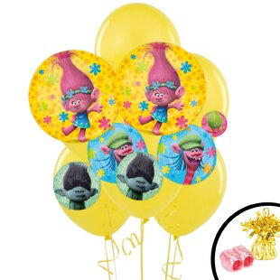 Trolls Jumbo Bouquet Latex Disposable Balloon Weight SetT (Set of 12)