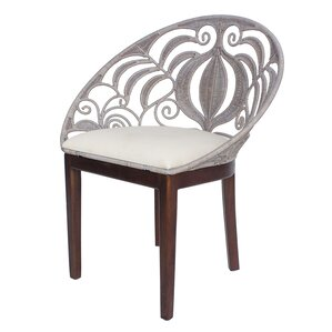 Bretta Rattan Side Chair by Bungalow Rose