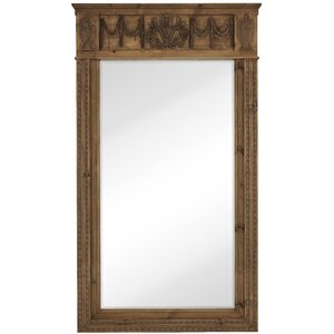 decorative floor leaner mirror with natural wood frame - Natural Wood Picture Frames