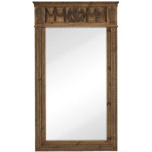 decorative floor leaner mirror with natural wood frame - Natural Wood Frames