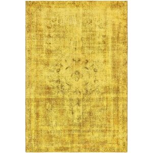 Sela Traditional Vintage Persian Hand Woven Wool Gold Area Rug