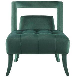 Sherell Performance Velvet Slipper Chair Set of 2