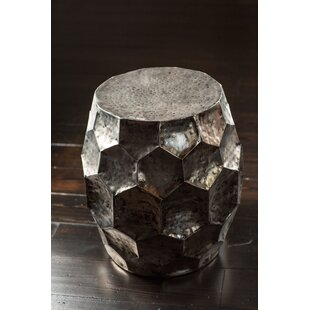 Fuhrman Hammered Iron Accent Stool by Wrought Studio