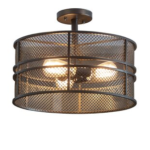 Wimbled 3-Light Semi Flush Mount