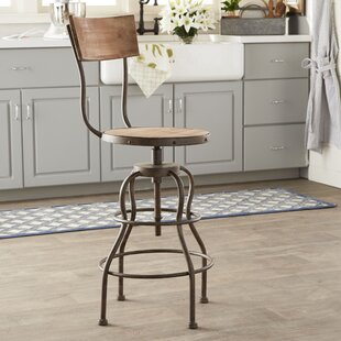 Micha Adjustable Height Swivel Bar Stool by Trent Austin Design