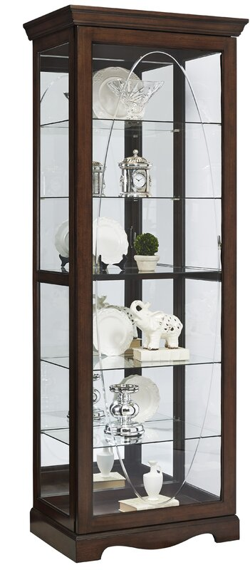 Blake Etched Lighted Curio Cabinet