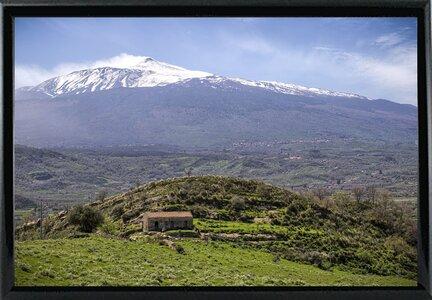 East Urban Home Quiet Mount Etna Photographic Print