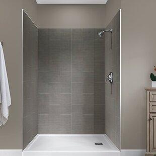 Best Price Jetcoat™ 78 x 48 x 34 Five Panel Shower Wall ByHazelwood Home