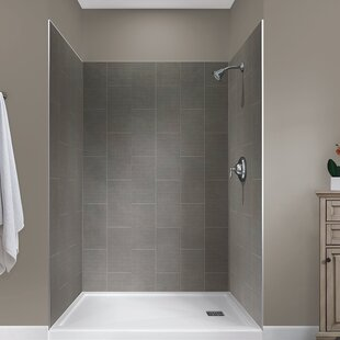 Jetcoat™ 78 x 48 x 34 Five Panel Shower Wall By Hazelwood Home