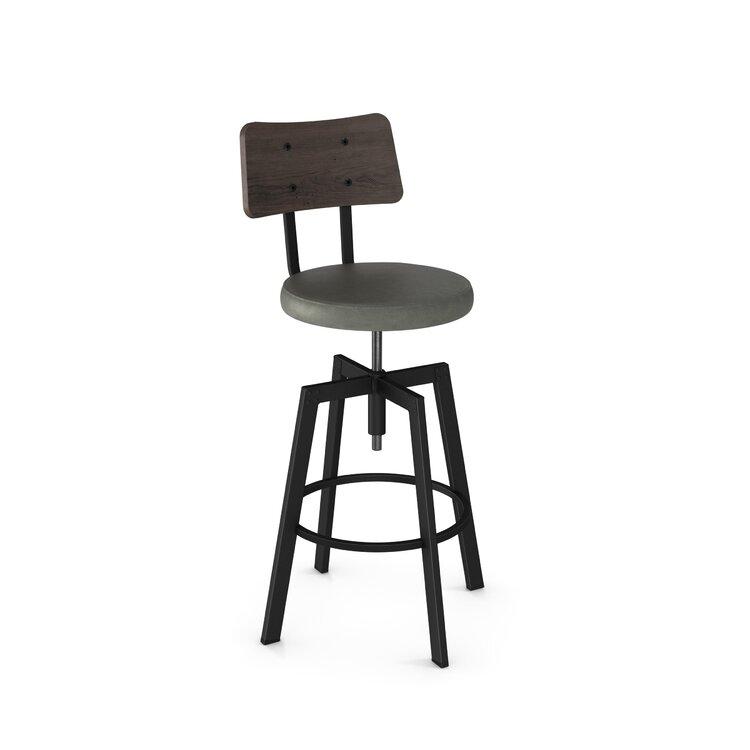 Brilliant Lorri Adjustable Height Swivel Bar Stool Joss Main Cjindustries Chair Design For Home Cjindustriesco