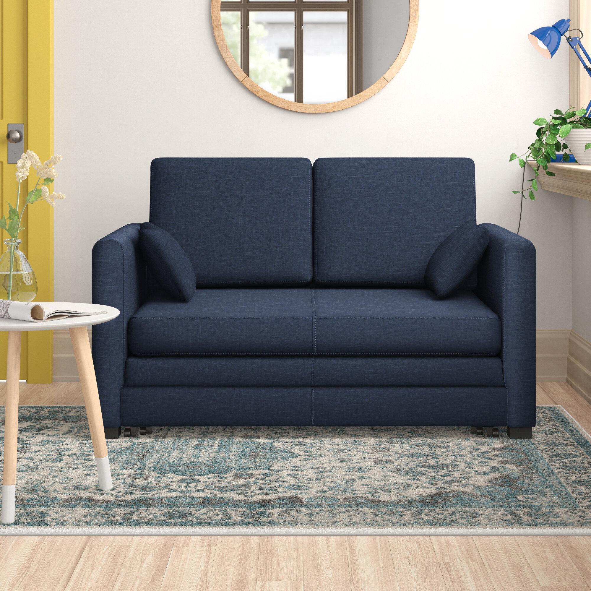 Zipcode Design Ash Hill 2 Seater Fold Out Sofa Bed Reviews Wayfair Co Uk