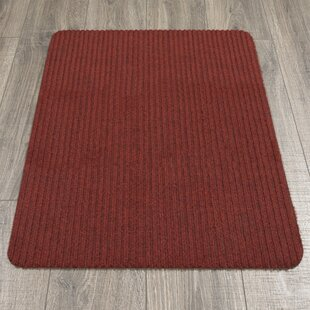 Winchell Ribbed Red Indoor/Outdoor Area Rug