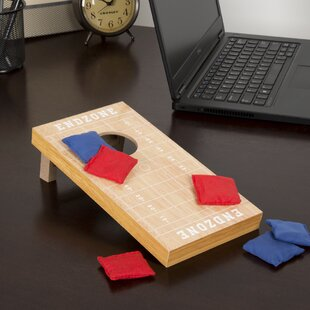 7 Piece Tabletop Football Cornhole Game by Hey! Play!