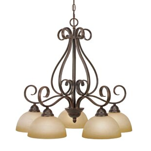Alcott Hill Bramblecrest 5-Light Shaded Chandelier