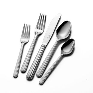 Italian Countryside 20 Piece 18/10 Stainless Steel Flatware Set, Service for 4