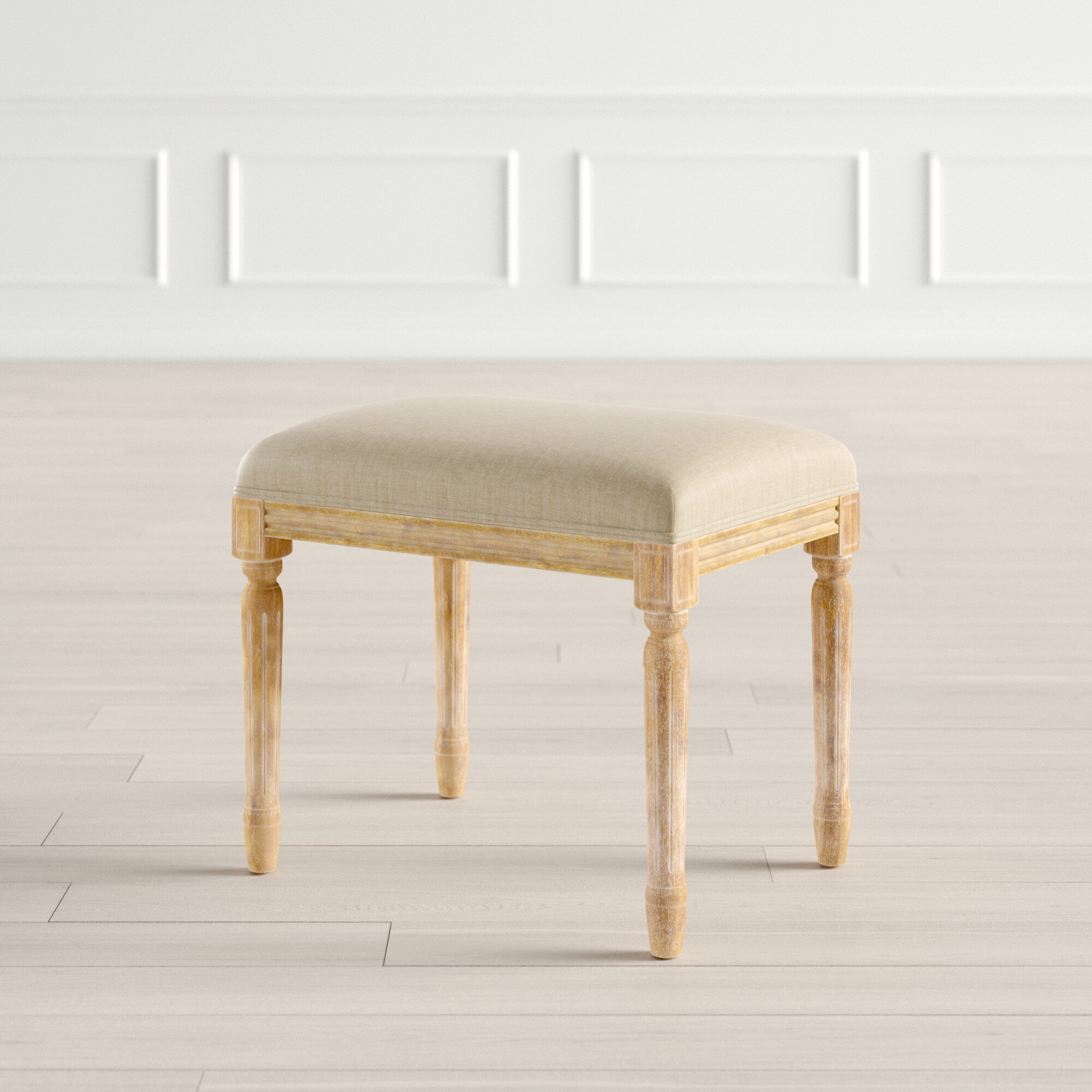 Glenoe Solid Wood Vanity Stool Reviews Joss Main