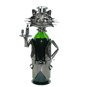 Cat Server 1 Bottle Tabletop Wine Rack by Three Star Im/Ex Inc.