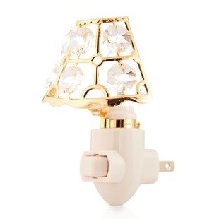 Matashi Crystal 24K Gold Plated Lamp Shade Night Light
