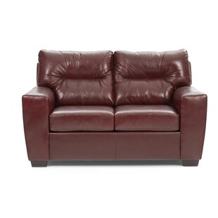 Shop Oliver Leather Loveseat by Williston Forge