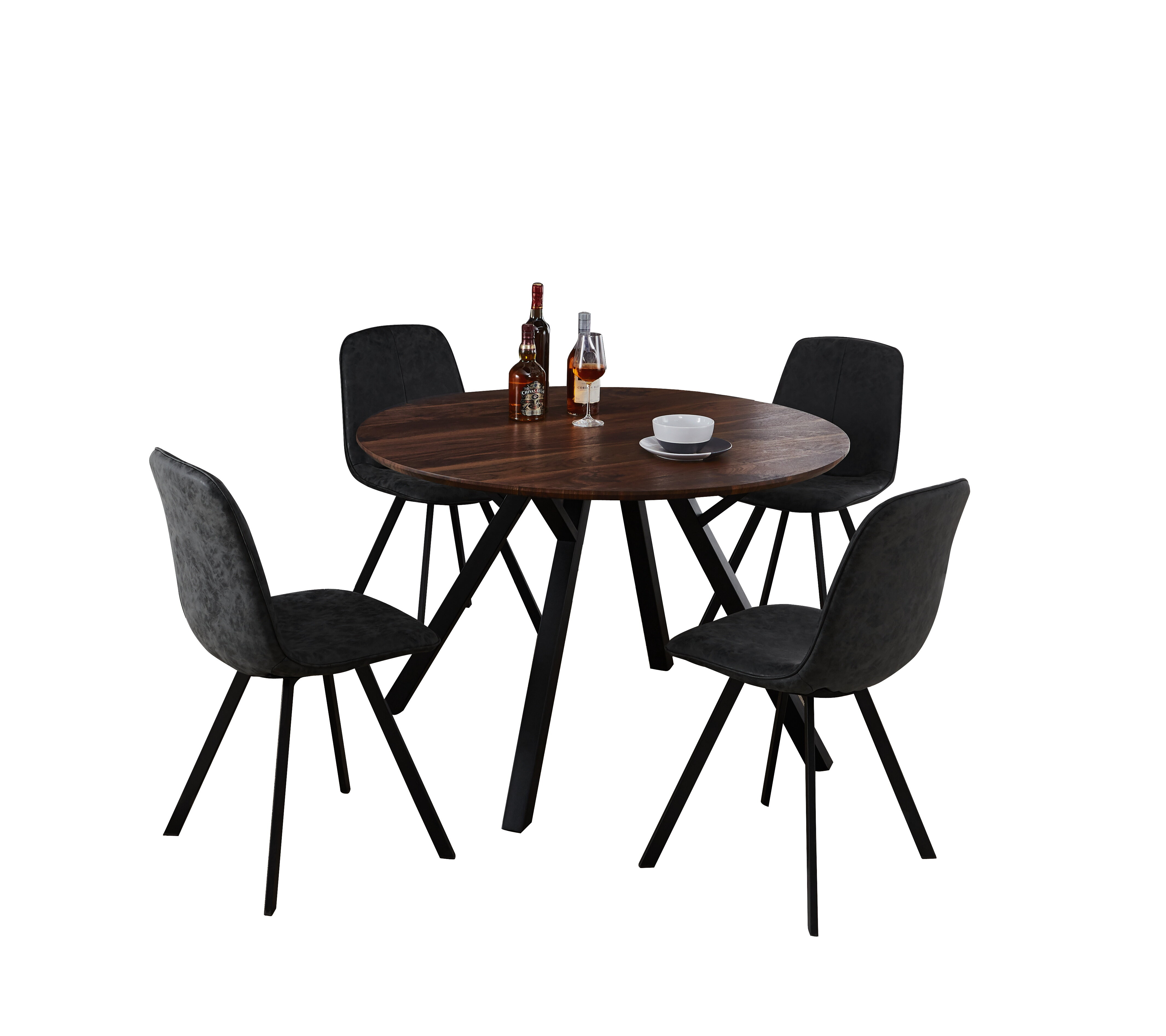 hot sales e5d46 a415e Malmo Design Round Table 5 Piece Solid Wood Dining Set