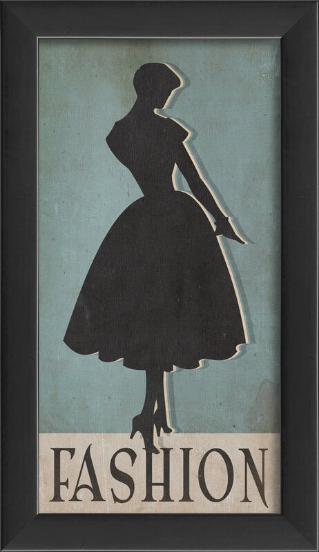 Fashion Silhouette Small Framed Graphic Art