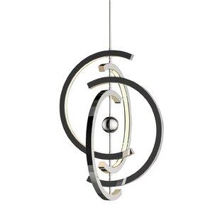 Orren Ellis Corinna 4 Crescent 4-Light LED Chandelier