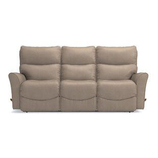 Rowan Leather Manual Reclining Sofa by La-Z-Boy