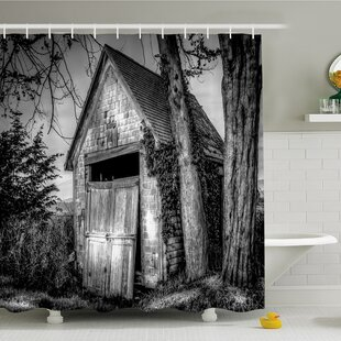 Rustic Home Old Ruined Stranded Stone Barn Farmhouse Rural Countryside Shower Curtain Set