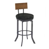 Justina Bar & Counter Swivel Stool by 17 Stories